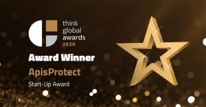 ApisProtect win award in startup category at the Think Global Awards