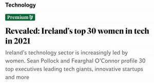 CEO Dr Fiona Edwards Murphy Top-30-women-in-tech- ApisProtect